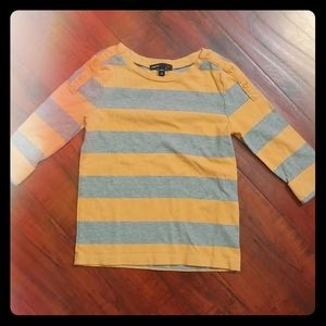 GAPkids long sleeved top YELLOW/GRAY stripe